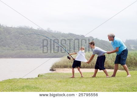 fishing teamwork
