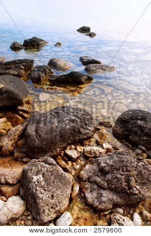 Rocks In Clear Water