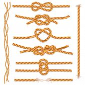 Set of ropes and knots