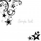 image of moon stars  - star background - JPG