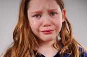 Young Girl Crying and Upset