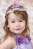 picture of toddlers tiaras  - Little girl Dressed at Princess for halloween - JPG