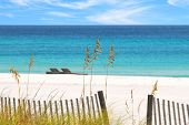 foto of sea oats  - Beautiful white sands and emerald water - JPG