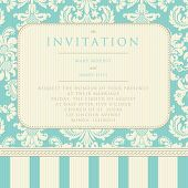 picture of wedding invitation  - Ornate damask background - JPG