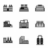Production Icons Set. Simple Illustration Of 9 Production Icons For Web poster