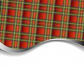 Red pleated tartan for background