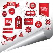 collection of sale banners and tags, vector