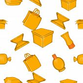 Packing Pattern. Cartoon Illustration Of Packing Pattern For Web poster