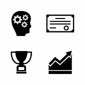Career Progress. Simple Related Vector Icons Set For Video, Mobile Apps, Web Sites, Print Projects A poster
