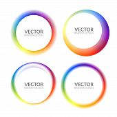 Set Of Colorful Round Abstract Banners Overlay Shape. Graphic Banners Design. Label Graphic Fun Tag  poster