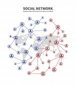 People Socia Networks And Telecommunications, Human Links Vector Concept With Persons Sharing Inform poster