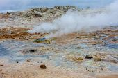 Namafjall Hverir Geothermal Area In North Iceland poster
