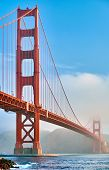Golden Gate Bridge view from Fort Point at morning, San Francisco, California, USA poster