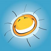 Smiley Sunny (Vector Or Xxl Jpeg Image) poster