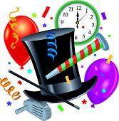 Постер, плакат: Новый год партия