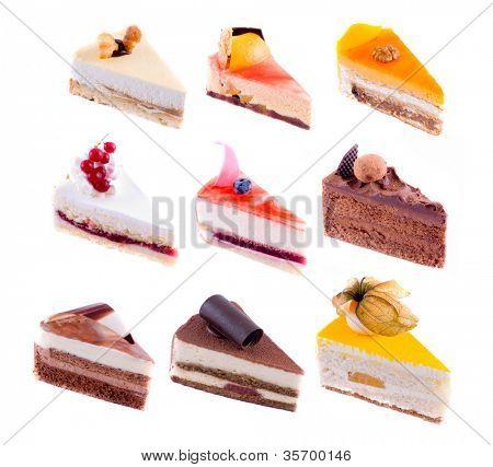 beautiful cake. on white isolated