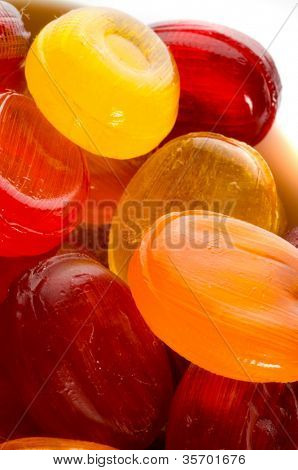 sweet coloured bonbons
