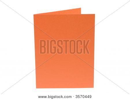 Bright Orange Blank Card