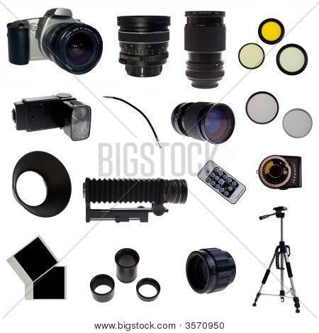Xxl. Photographic Equipment Set. 16 Elements