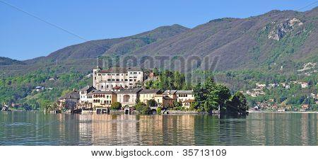 San Giulio Island,Lake Orta,Italy