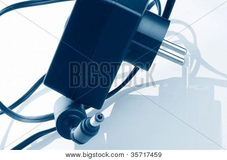 Power Plug - close up on power cord