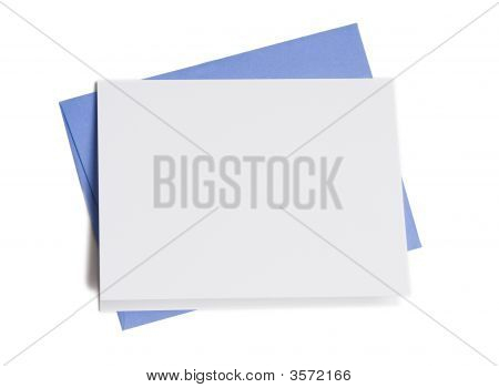 Blank Card With Blue Envelope