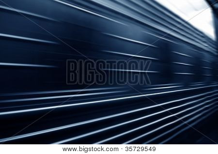 train passing by. Motion blur