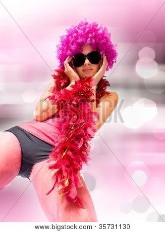 bela mulher sexual. estilo de dança