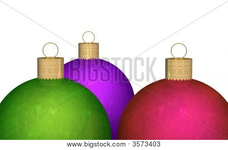 Three Metallic Ornaments