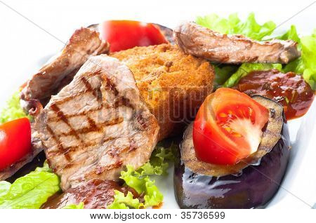 juicy sirloin beef covered