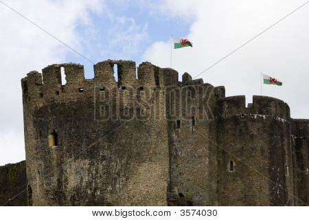 Towers Of Caerphilly Castle