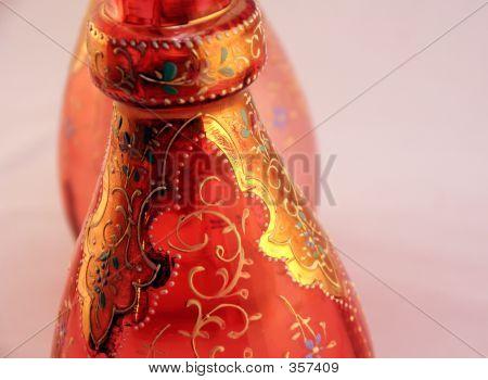 Red Vintage Vase