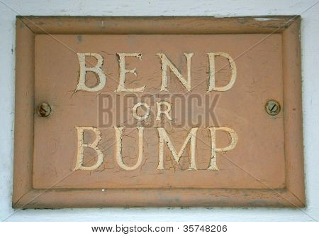 Bend or Bump