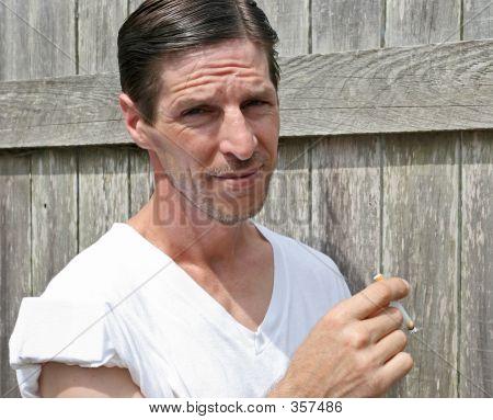 Tough Guy Smoking