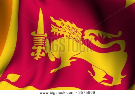 Rendered Sri Lanka Flag