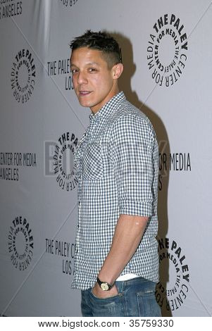 "BEVERLY HILLS - MARCH 7: Theo Rossi arrives at the 2012 Paleyfest ""Sons of Anarchy"" panel on Wednesday, March 7, 2012 at the Saban Theater in Beverly Hills, CA."