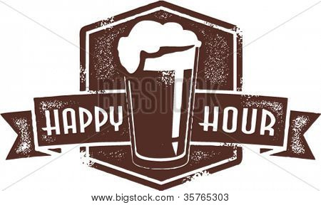 Happy Hour Beer Pint Stamp