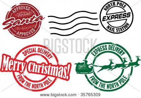 North Pole & Santa Christmas Stamps
