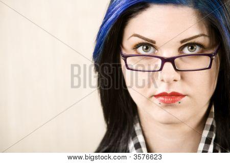 Portrait Of A Cute Rockabilly Girl