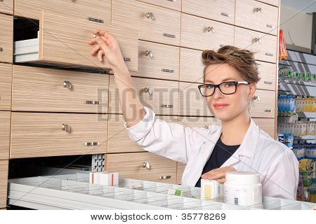 Young Girl Pharmacist