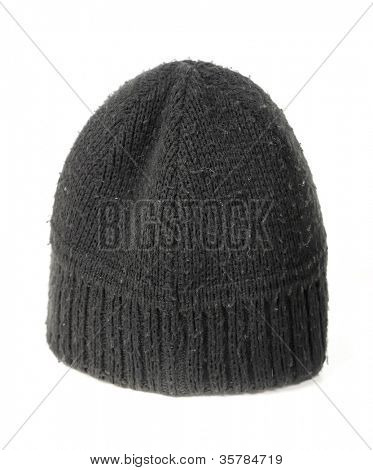 Black cap isolated