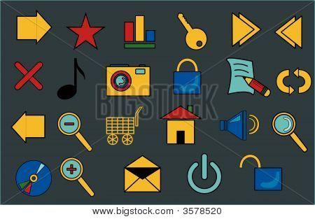 Buttons, Symbols.Eps