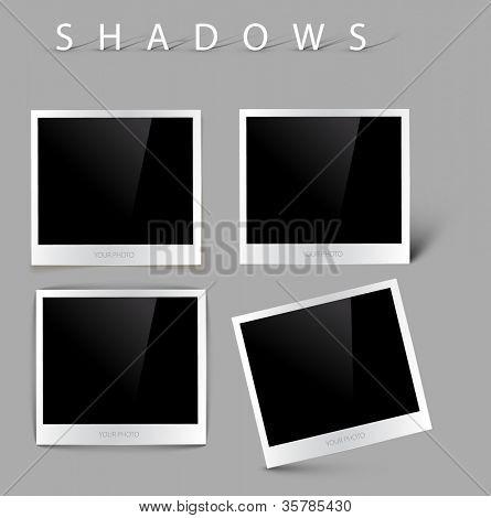 Sammlung von Vektor-Fotos mit realistische Schatteneffekte