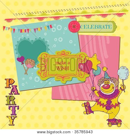 Scrapbook Design Elements - Birthday Party Child Set - in vector
