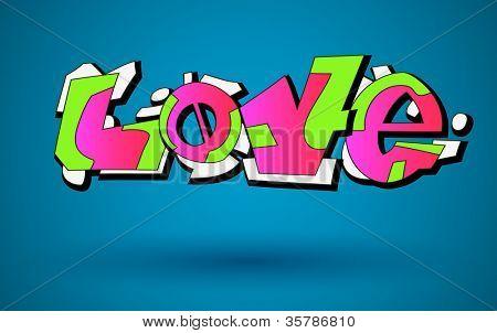 Love. Graffiti Urban Art Vector Design
