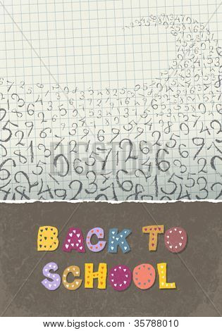 Back to school, A4 format. Education themed abstract background, vector illustration, EPS10