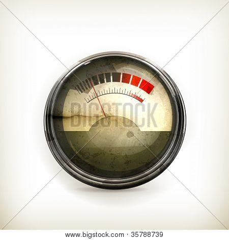 Audio Gauge, old-style vector isolated