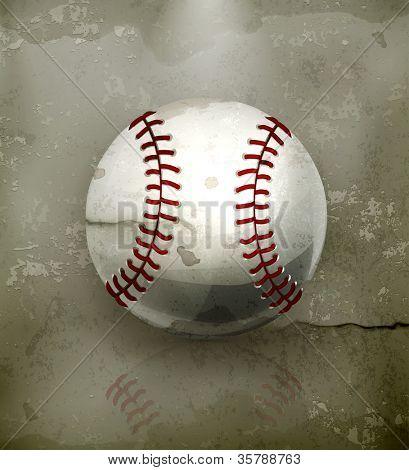 Beisebol, vetor de estilo antigo