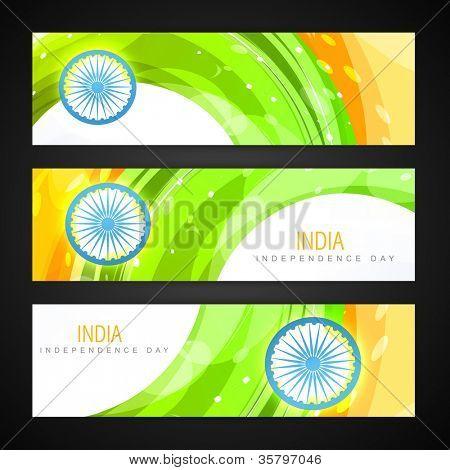 creative indian flag headers design