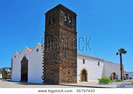 a view of Church of Our Lady of Candelaria in La Oliva, Fuerteventura, Canary Islands, Spain